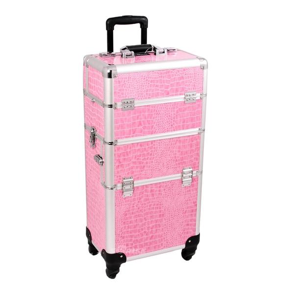 Sunrise Professional Rolling Trolley Makeup Storage Case