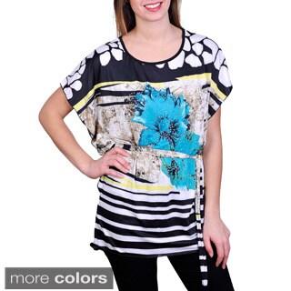 J. Furmani Women's Flower Print Tunic