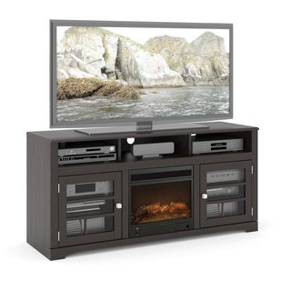 Sonax TWB-206-F West Lake 60-inch Mocha Black Fireplace Bench