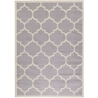 Paterson Collection Grey Moroccan Trellis Design 3-piece Area Rug Set (5' x 7''; 1'8 x 4'11; 1'8 x 2'6)