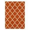Ottomanson Ottomanson Shag Collection Moroccan Trellis Design Area Rug