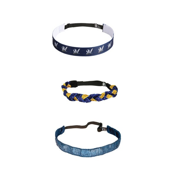 Bani Bands Milwaukee Brewers Headband Combination Pack