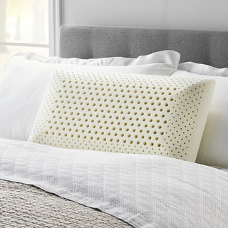 LUCID Comfort Collection Dual Zone Memory Foam Pillow - White