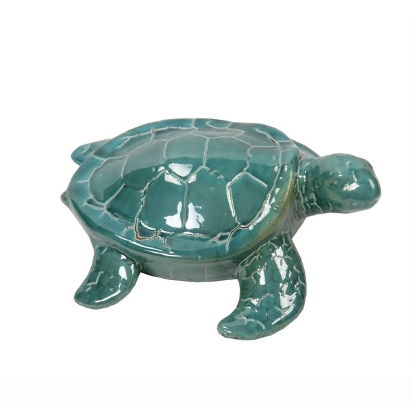Privilege Turquiose Ceramic Turtle