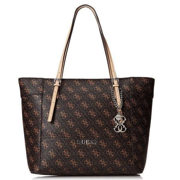 Guess Delaney Logo Medium Classic Tote Overstock