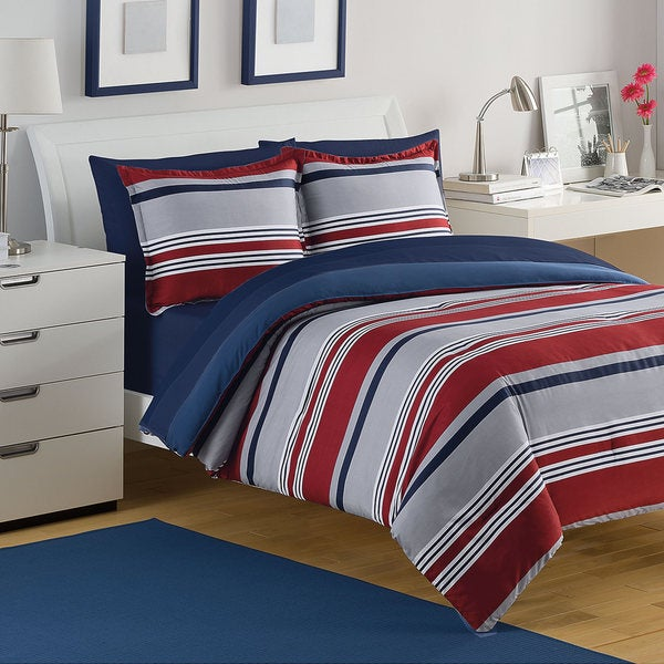 IZOD Golf Stripe 3-piece Comforter Set (As Is Item)