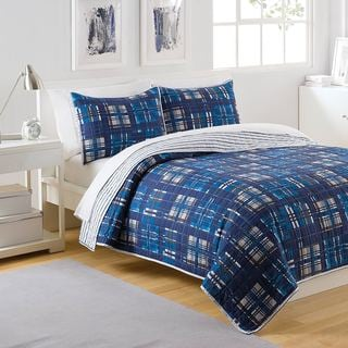 IZOD Patchwork Plaid 3-piece Quilt Set