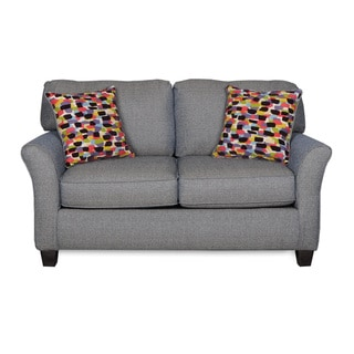 Sofab Josie Azure Love Seat With Two Accent Pillows