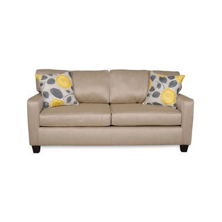 Sofab Darcey Beige Sofa With Two Reversible Accent Pillows