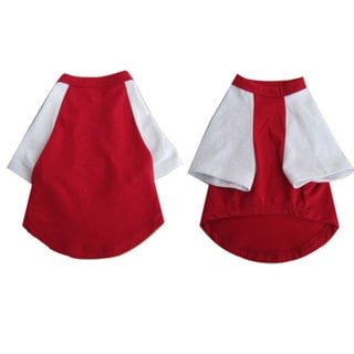 Iconic Pet Pretty Pet Red and White Top