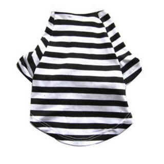 Iconic Pet Pretty Pet Black and White Striped Top