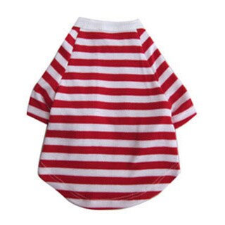 Iconic Pet Pretty Pet Red and White Striped Top