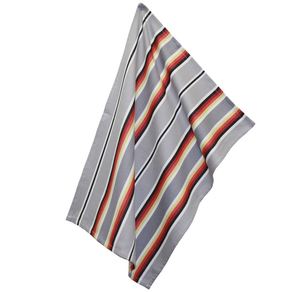 Blanket Stripe Towel Grey (Set of 2)