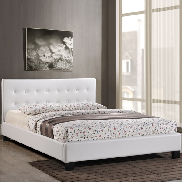 Catalan Vinyl Bed Frame in White