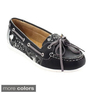 De Bengonia Xhl-900 Women Moccasin Lace Up Slip On Flats