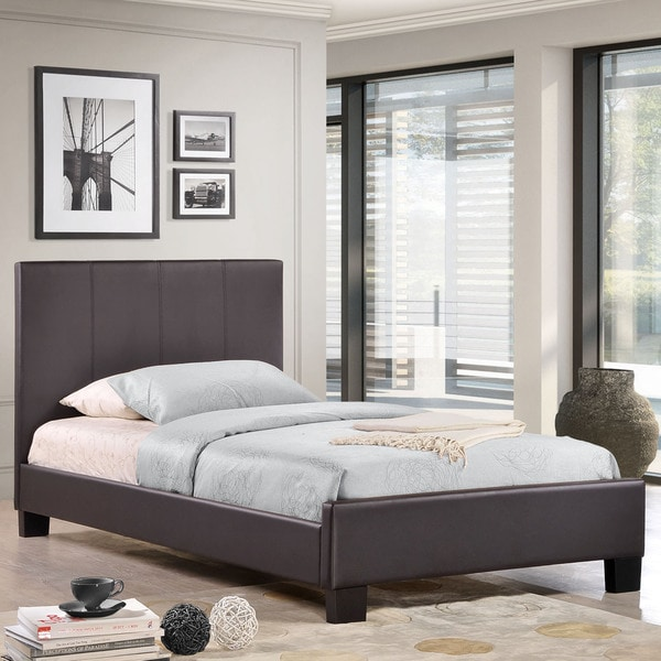 Apex Vinyl Bed Frame in Black