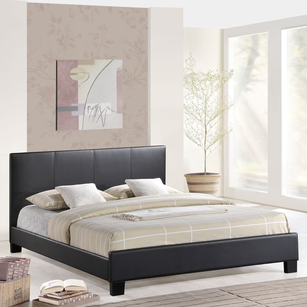Apex Black Vinyl Bed Frame