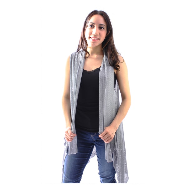 Le Nom Women's Sleeveless Cardigan (One Size Fits Most)