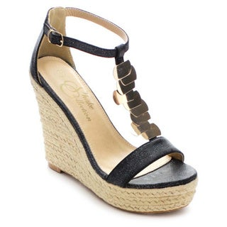 Shake Collection Ella Women's Strappy T-Strap Espadrilles Wedge