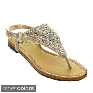 Bolaro Df5349 Women's Open Toe Easy Slip On Slingback Sandals