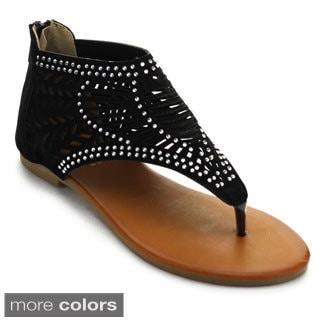 Bolaro Df5720 Women's Open Toe Gladiator Sandals