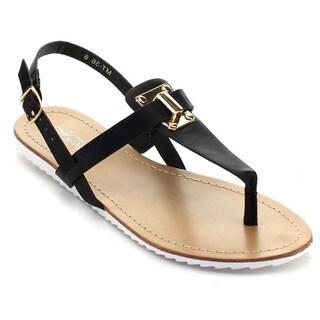 De Bengonia Mt-36 Women Sling Back Ankle T-Strap Thong Sandals