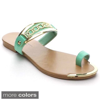 Shake Collection Emma Women's Backless Slip On Thong Flat Sandals
