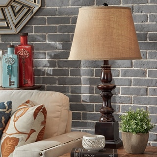 INSPIRE Q Jedrick Classic Brown 1-light Accent Table Lamp