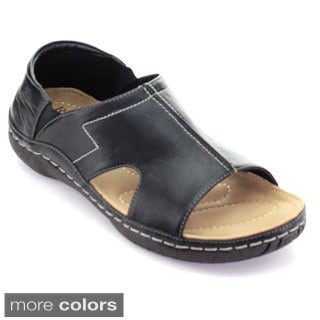 Rocus Jf3-42 Men's Open Toe Cut Out Elastic Slip On Casual Outdoor Sandals
