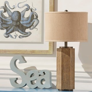 INSPIRE Q Gable Brown 1-light Accent Table Lamp