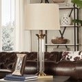 TRIBECCA HOME Mawrly Metal and Glass 1-light Accent Table Lamp