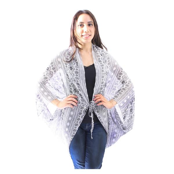 Le Nom Women's Aztec Print Kimono