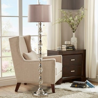 TRIBECCA HOME Alric Glass Orb 2-Light Accent Floor Lamp
