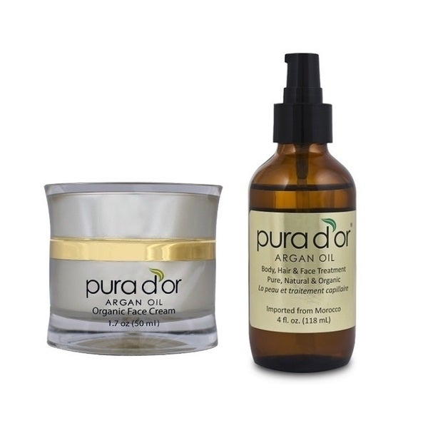 Pura d'or Organic Organic Anti-aging Face Cream and Argan Oil