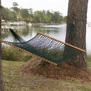 Green Presidential Size Original DuraCord Rope Hammock