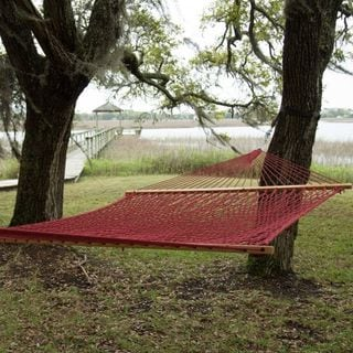 Garnet Presidential Size Original DuraCord Rope Hammock (Stand Not Included)