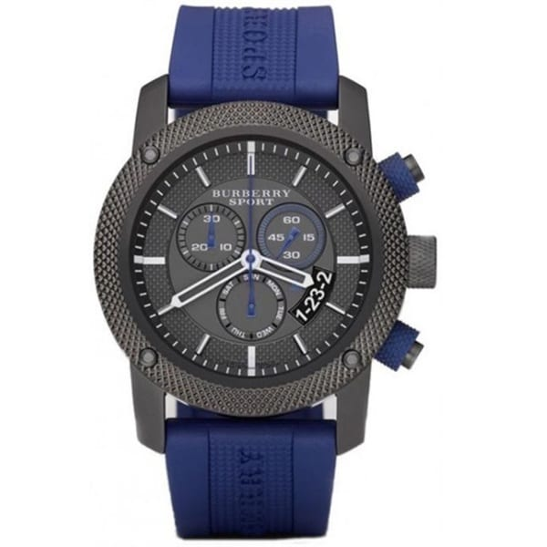 Burberry Men's BU7714 'Endurance' Chronograph Blue Rubber Watch