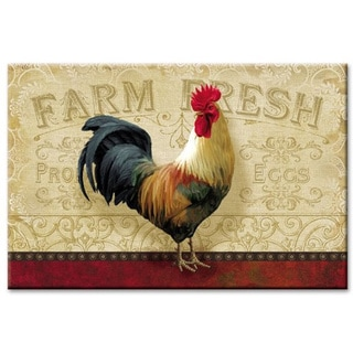 Counterart Farm Fresh Rooster Glass Cutting Board