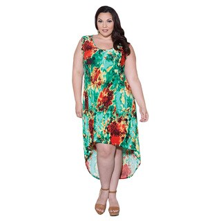 Sealed with a Kiss Women's Plus Size 'Irene' Hi Lo Dress