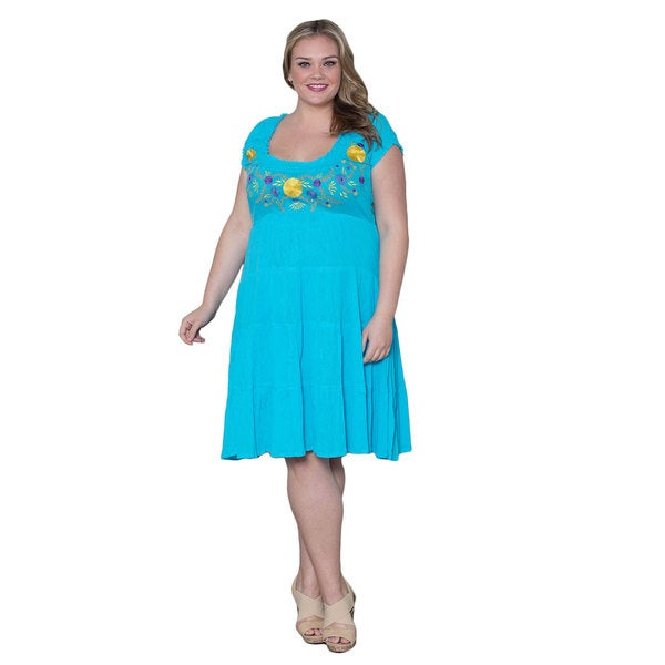 Sealed with a Kiss Women's Plus Size 'Soleil' Gauze Dress