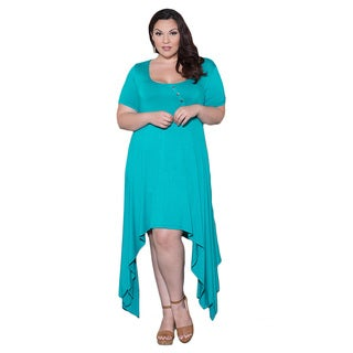 Sealed with a Kiss Women's Plus Size 'Maria' Handkerchief Dress
