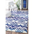nuLOOM Contemporary Handmade Ikat Fancy Abstract Rug (8' x 10')