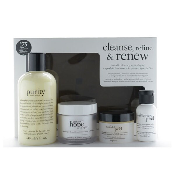 Philosophy Cleanse, Refine, & Renew 4-piece Set