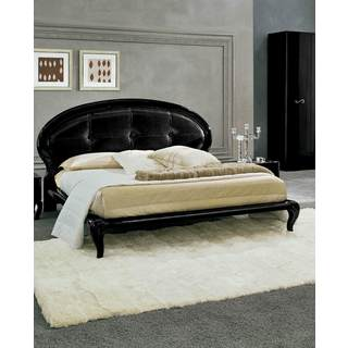 Luca Home Contemporary Black Bed