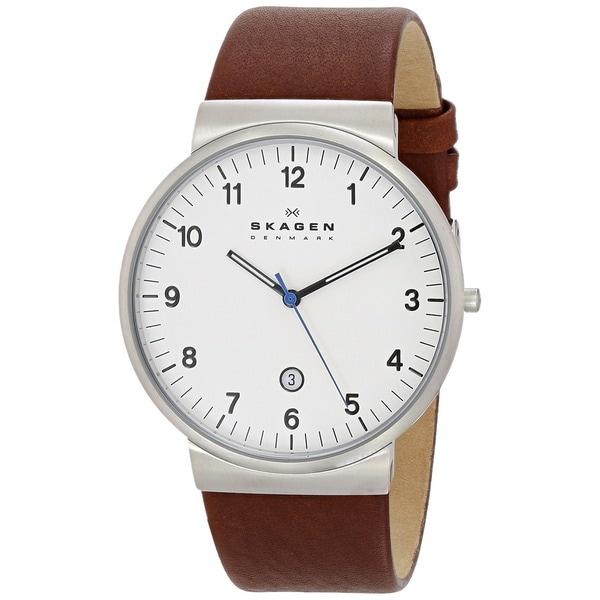 Skagen Men's Ancher Quartz Stainless Steel Dark Brown Watch
