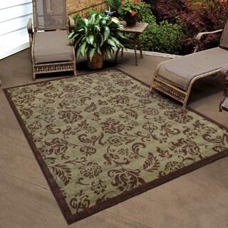 "Indoor/ Outdoor Four Seasons Cecillia Vineyard Area Rug (3'10"" x 5'5"")"