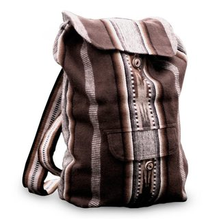 Handcrafted Alpaca Blend 'Andean Lands' Backpack (Peru)