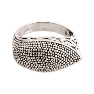 Handcrafted Sterling Silver 'Exotic Denpasar' Ring (Indonesia)