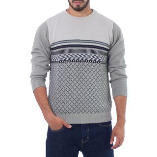 Men's Alpaca 'Millenary Voyager' Pullover Sweater (Peru)