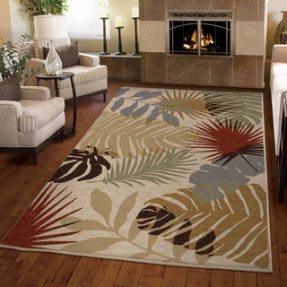 "Harmony Tropical Shadows Khaki Area Rug (3'11"" x 5'5"")"